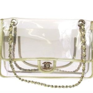 Vintage Chanel Clear Flap Bag